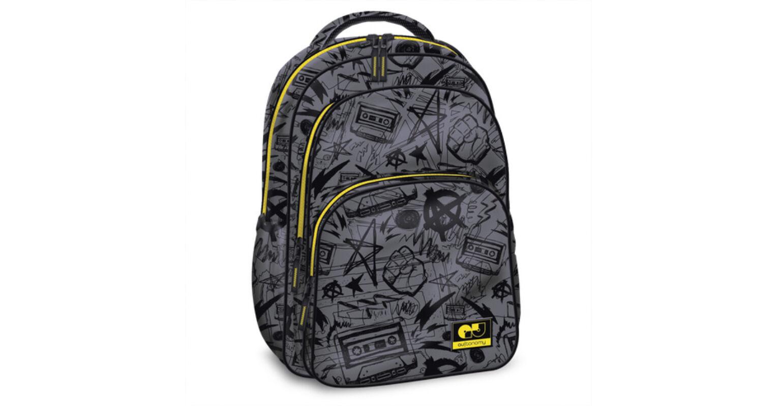 acb4e1794505 AUtonomy Casette tinédzser 3 rekeszes iskolatáska, hátizsák 13.036 Ft-os  áron!