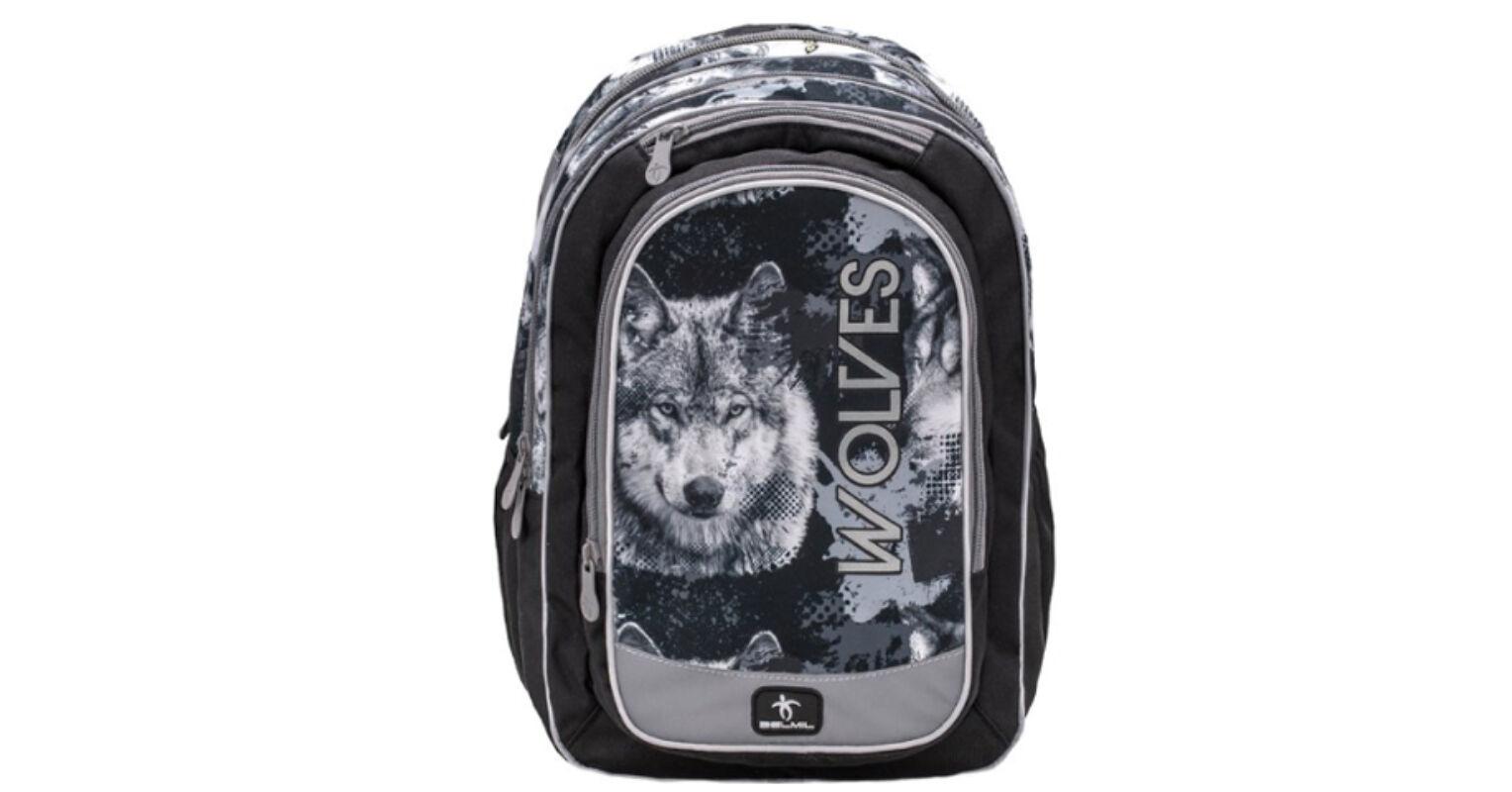 b95391f8d98d Belmil: Wolves Grey iskolatáska, hátizsák 41×26×18 cm 23.083 Ft-os áron!