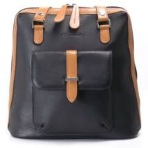 Karen női fekete-barna bőr hátizsák c0691173aa