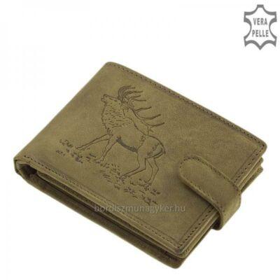 GreenDeed zöld vadász pénztárca szarvas mintával
