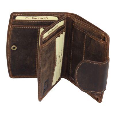Greenburry íves-pántos fekvő női bőr pénztárca 12x10cm