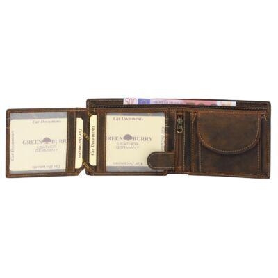 Greenburry vario férfi bőr pénztárca 12.5x9.5cm