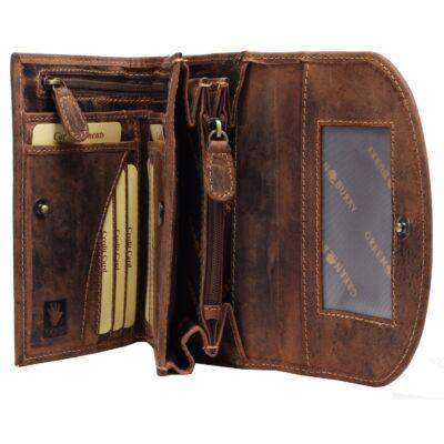 Greenburry kombinált női bőr pénztárca 15x10cm