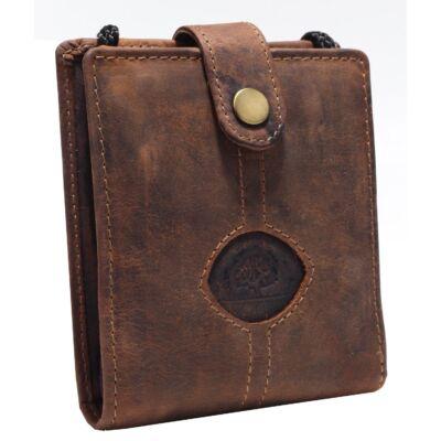 Greenburry nyakbakötős bőr pénztárca 12.5x10cm