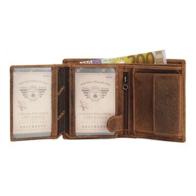 Greenburry vario álló férfi bőr pénztárca 9.5x12.cm