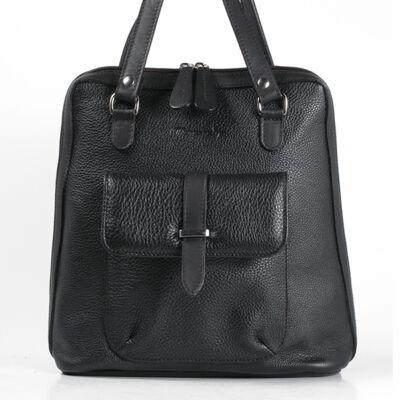 Karen női fekete bőr hátizsák