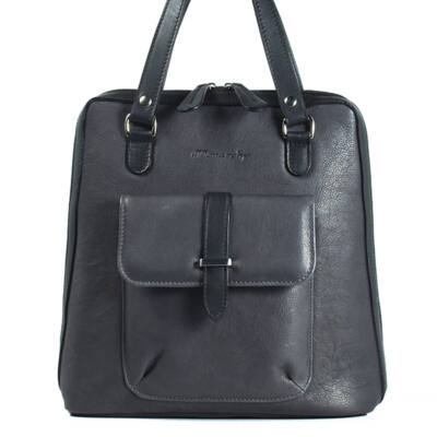 Karen női sötétszürke bőr hátizsák