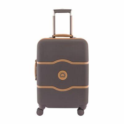 Delsey Chatelet slim kabin bőrönd, barna