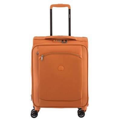 Delsey Montmartre Air Slim, puha falú, kabin bőrönd, orange
