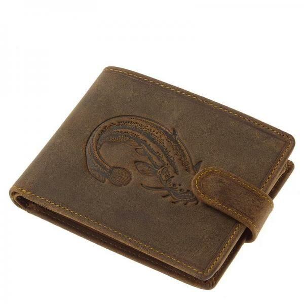 GreenDeed horgász férfi pénztárca harcsa mintával