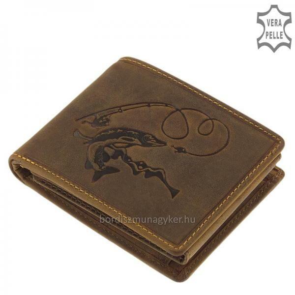 GreenDeed horgász pénztárca csuka mintával