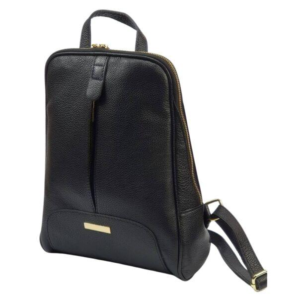 Maxmoda Lorin fekete női bőr hátizsák