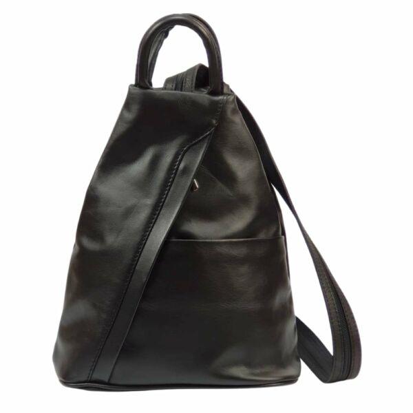 Maxmoda Koko fekete női bőr hátizsák