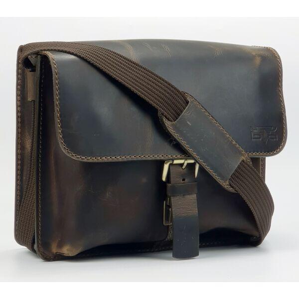 Vicenza sportos fazonú bőr oldaltáska, crossbody táska