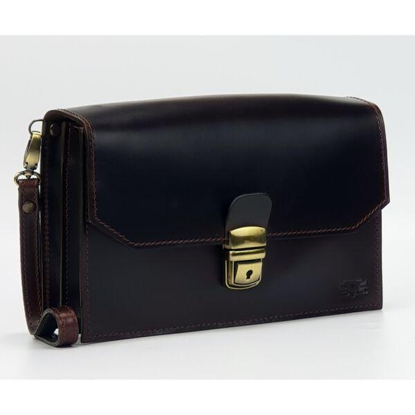 Selyemfényű bőr autós táska