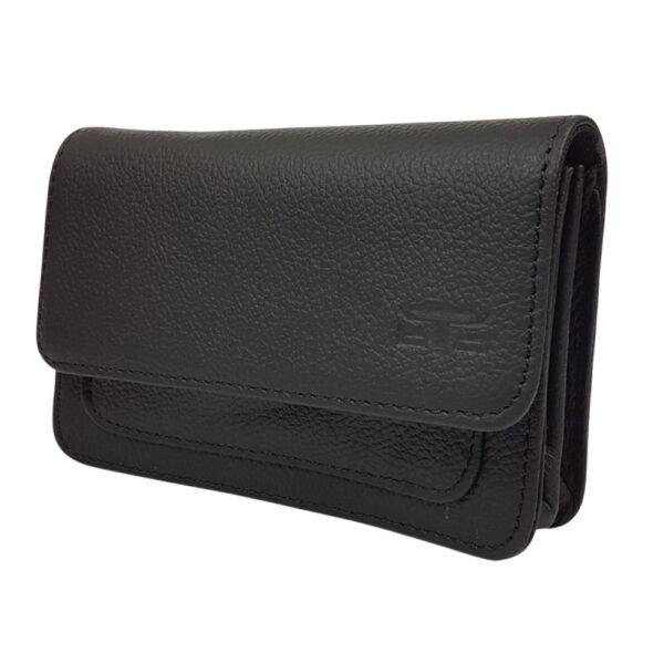 Blazek fekete fekvő bőr övtáska, telefon tartó 16.5x10.5 cm