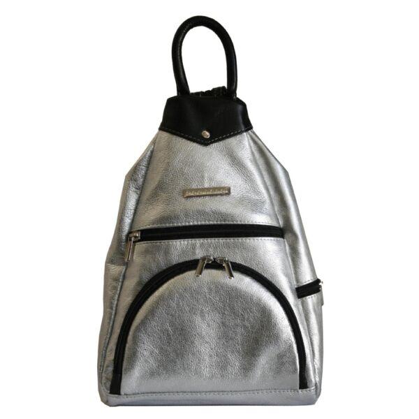 Ága Hengl Gyömbér ezüst női bőr hátizsák