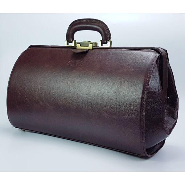 Nagyméretű, Blazek&Anni bordó bőr orvosi táska 41x24x23 cm