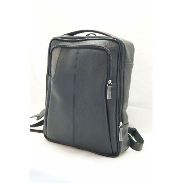 Fekete bőr hátizsák, laptop hátizsák