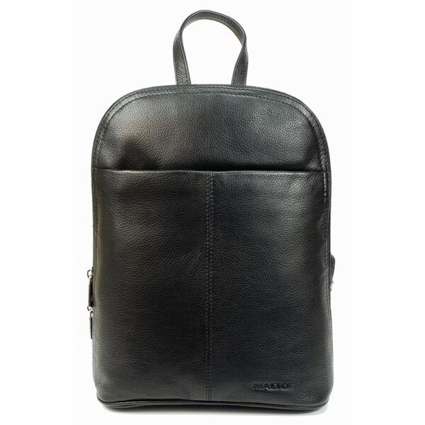 Rialto fekete bőr hátizsák