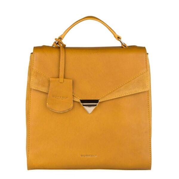Burkely Secret Sage elegáns, sárga színű hátizsák, kézitáska