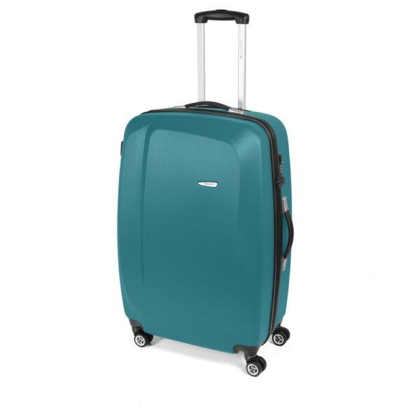 Gabol Line kemény falú, Wizzair, Ryanair kabin bőrönd 55 cm, türkizkék