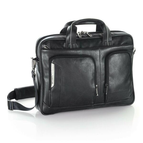 Gabol Shadow fekete műbőr laptoptáska 15,6