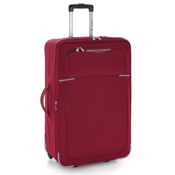 Gabol Malasia puhafalú, bővíthető trolley bőrönd 77 cm, piros