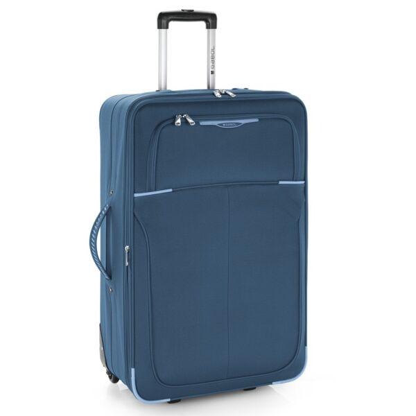 Gabol Malasia puhafalú, bővíthető trolley bőrönd 77 cm, kék