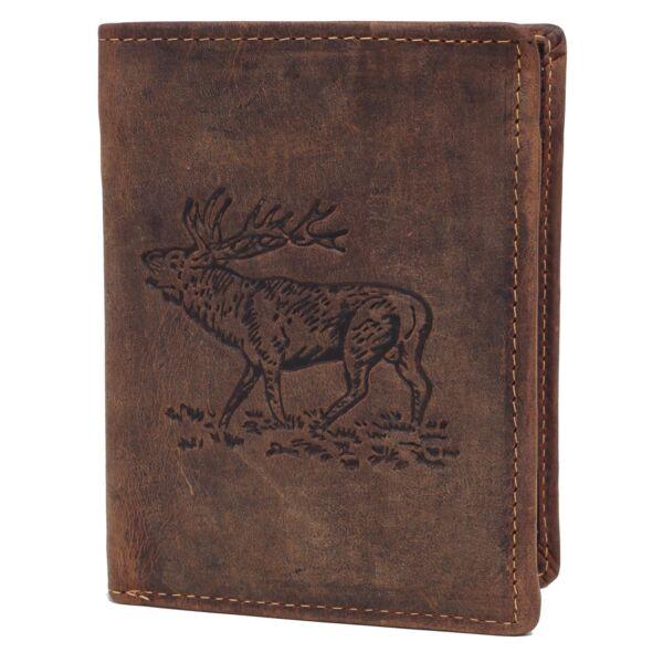Greenburry szarvas mintás álló férfi bőr pénztárca 12x9.5cm