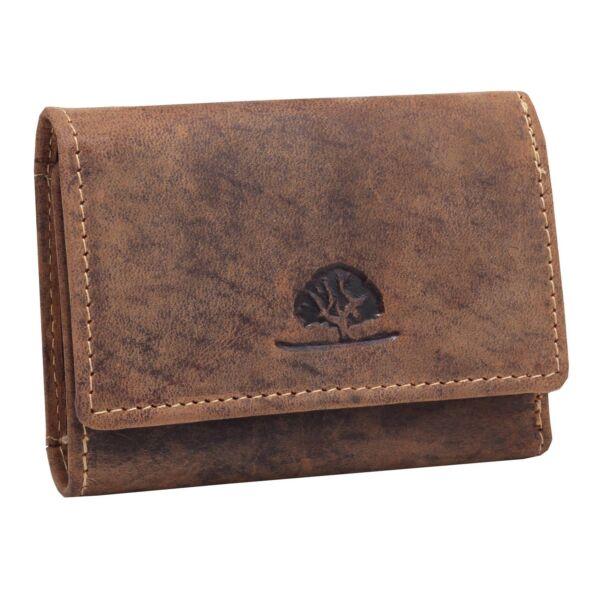 Greenburry koptatott mini bőr pénztárca 9x7 cm