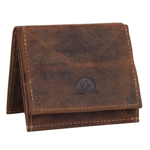 Greenburry antik hatású bőr pénztárca 10x9cm