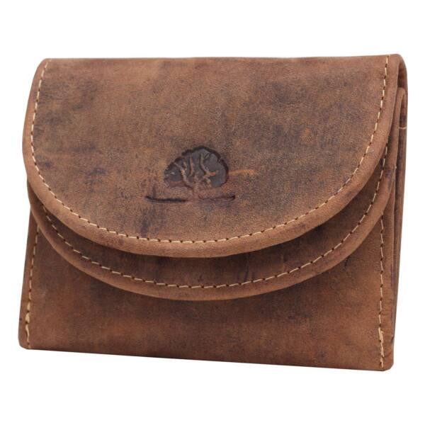 Greenburry koptatott ikerfedeles bőr pénztárca 10x8.5cm