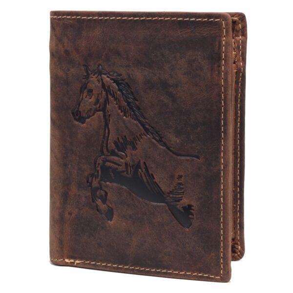 Greenburry ló mintás álló bőr pénztárca 12x9.5cm