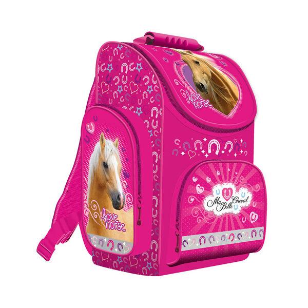 My Little Friend rózsaszín ergonomikus lovas iskolatáska, hátizsák