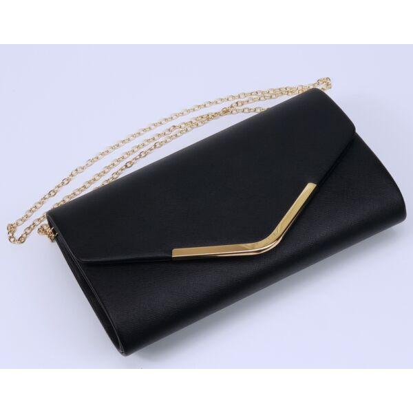 Fekete arany színházi, alkalmi táska, retikül