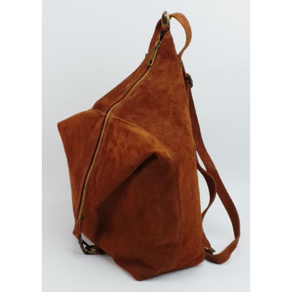 Maxmoda Milla barna hasított bőr női hátizsák