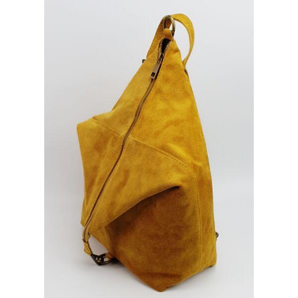 Maxmoda okker hasított bőr női hátizsák