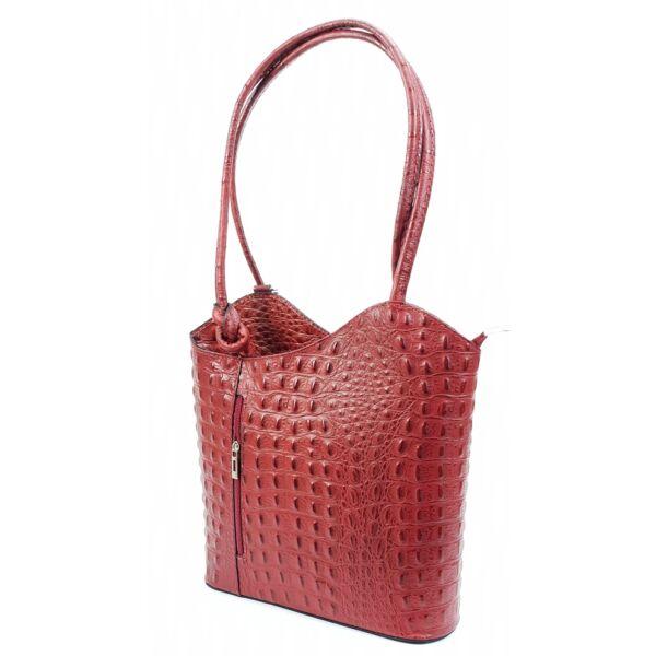 maxmoda piros női bőr táska