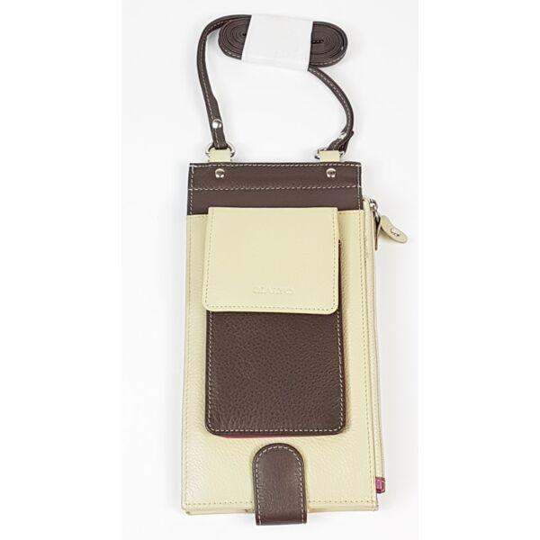 Rialto nyakba akasztható bőr pénztárca 22 db-os kártyatartóval 20 x 11 cm.
