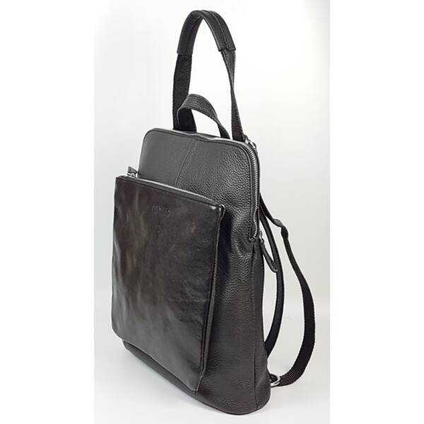 Rialto olasz design A4 női fekete bőr hátizsák 36 x 29 cm.