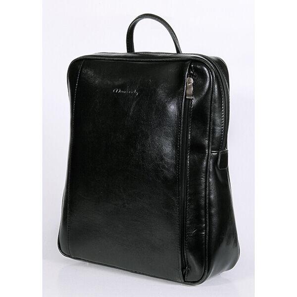 Rubina fekete női bőr hátizsák 29x35cm