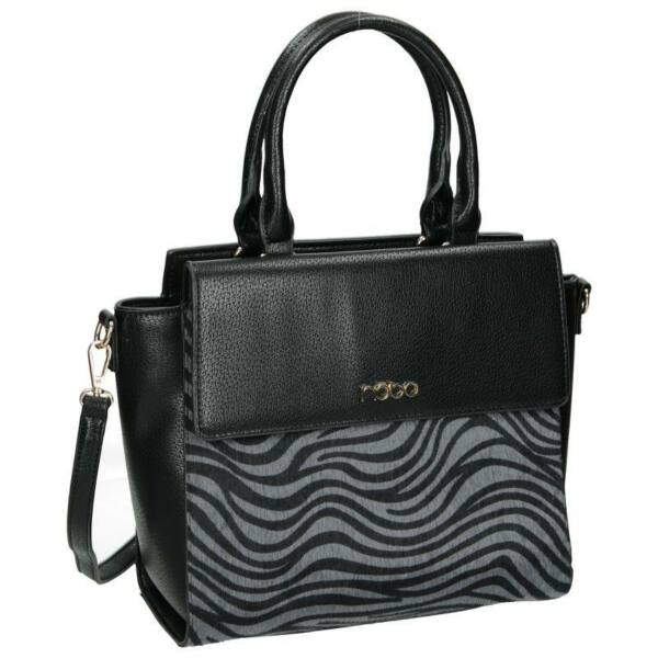 Nobo női fekete zebra mintás műbőr divattáska