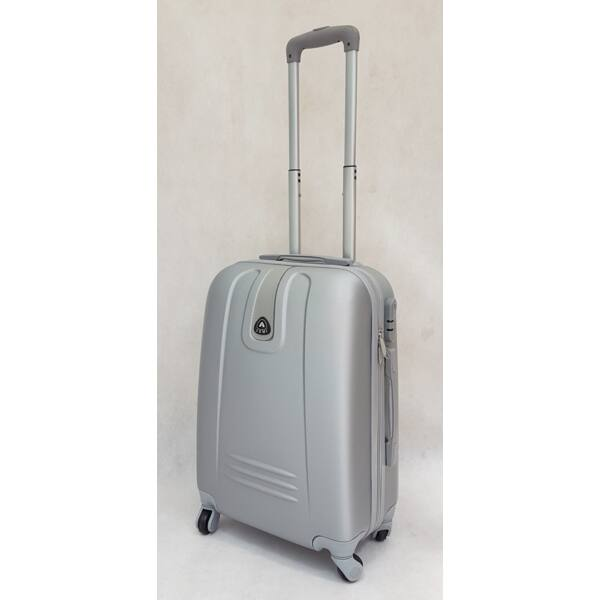 Ormi Hard ezüst keményfalú, kabin bőrönd 57x40 cm.