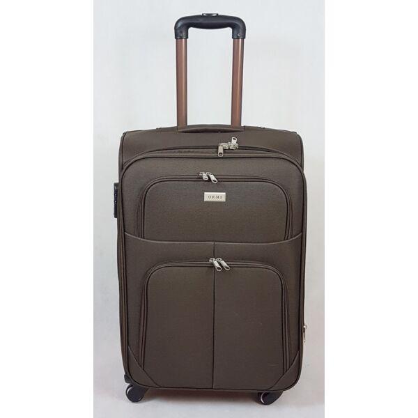 Ormi Light, puha falú, bőrönd, barna 60 cm