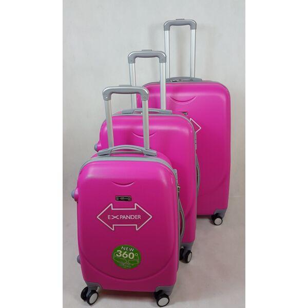 Rhino expander pink  kemény falú, bőrönd szett