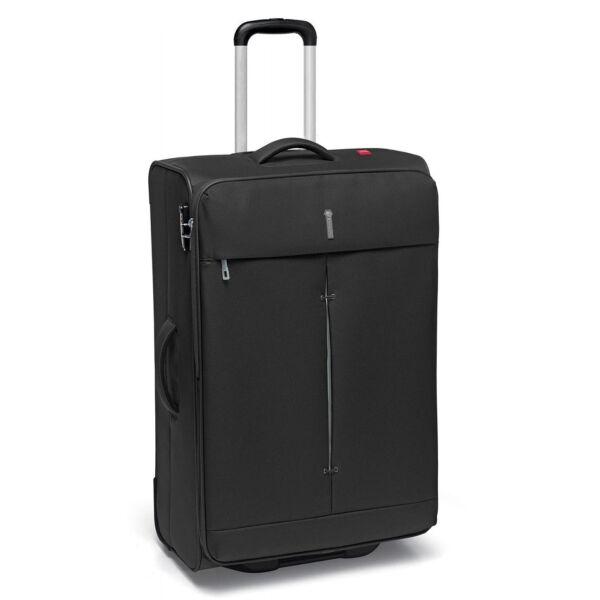 Roncato Ironik 2-kerekes bővíthető trolley bőrönd 64 cm, fekete