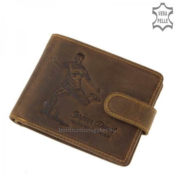 GreenDeed bőr pénztárca focis mintával