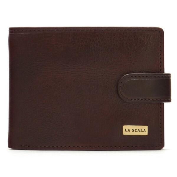 Férfi bőr pénztárca 9 db-os kihajtható kártyatartóval