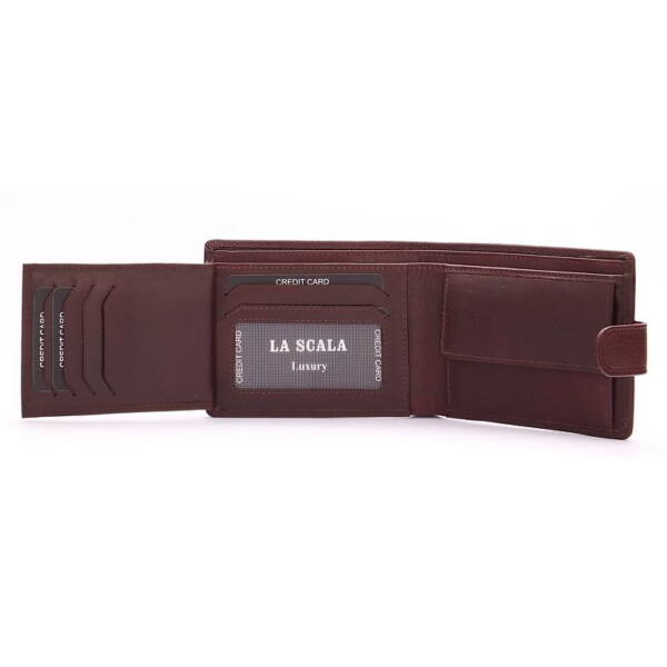 Férfi bőr pénztárca 10db-os kártyatartóval 12.5x9.5